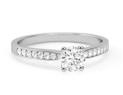 Shoulder Set $15,000 Engagement Ring