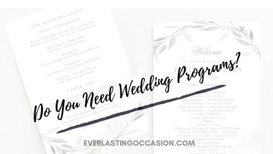 Do You Need Wedding Programs?