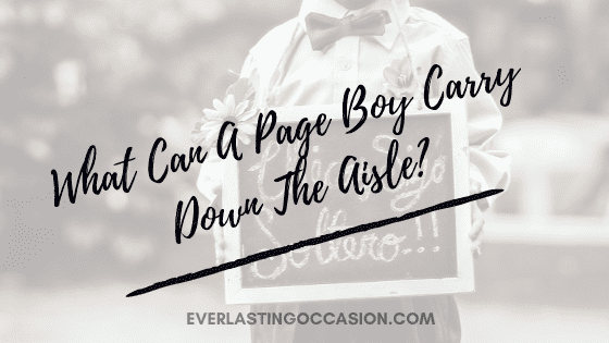 What Can A Page Boy Carry Down The Aisle?